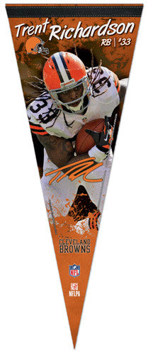 "Trent Richardson ""Signature"" Cleveland Browns Premium Felt Collector's Pennant - Wincraft 2013"