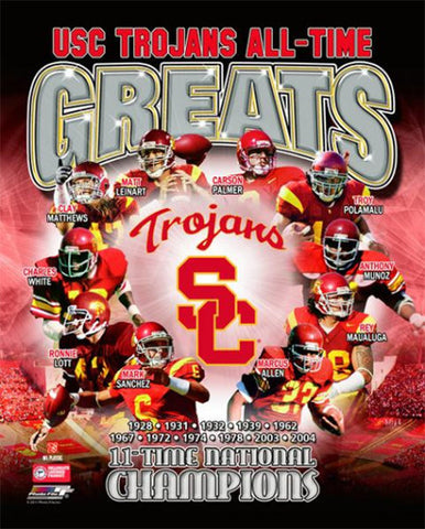 "USC Trojans ""All-Time Greats"" Commemorative Print - Photofile Inc."