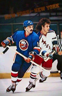 "Bryan Trottier and Ron Duguay ""New York-New York"" Islanders-Rangers Poster (1982)"