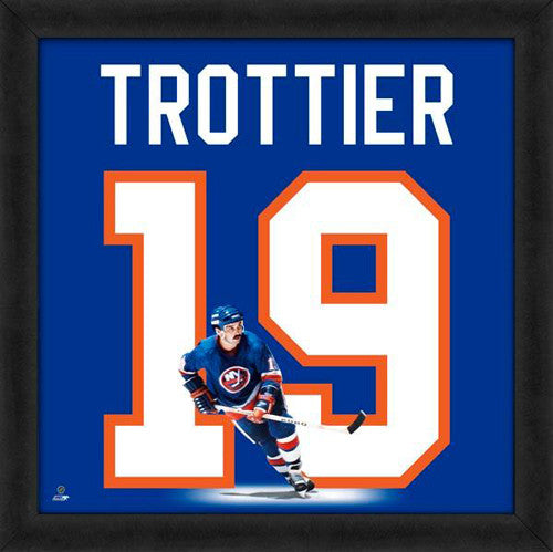 "Bryan Trottier ""Number 19"" New York Islanders FRAMED 20x20 UNIFRAME PRINT - Photofile"