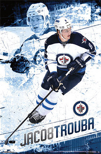 "Jacob Trouba ""Super 8"" Winnipeg Jets NHL Hockey Poster - Costacos 2014"