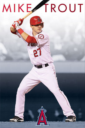"Mike Trout ""Heavenly"" L.A. Angels Poster - Costacos 2012"