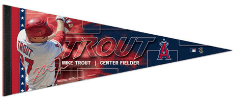 "Mike Trout ""Dynamo"" L.A. Angels Premium Felt Collector's Pennant - Wincraft"