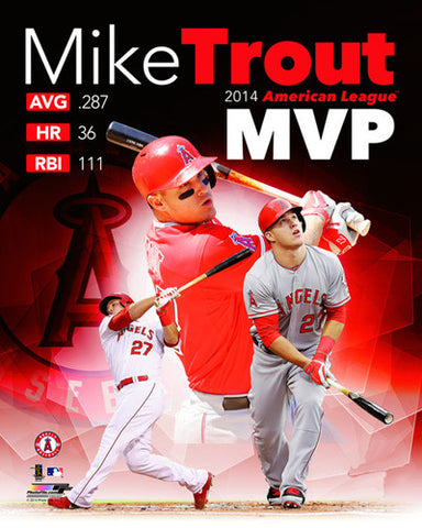 Mike Trout 2014 American League MVP Los Angeles Angels Premium Poster Print - Photofile 16x20