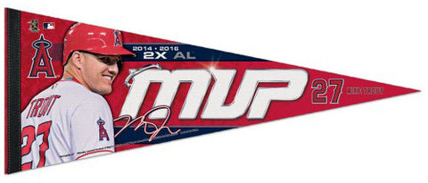 Mike Trout 2016 A.L. MVP L.A. Angels Premium Felt Commemorative Pennant - Wincraft Inc.