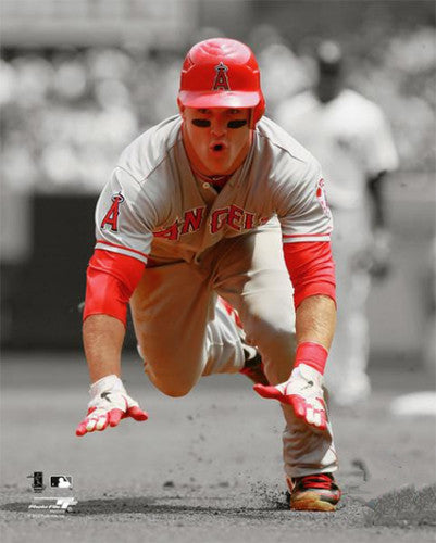 "Mike Trout ""Stealing Third"" (2012) Angels Premium Poster Print - Photofile 16x20"