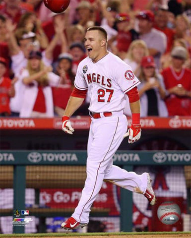 "Mike Trout ""Walkoff"" L.A. Angels Baseball Premium Poster - Photofile 16x20"