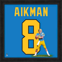 "Troy Aikman ""Number 8"" UCLA Bruins NCAA FRAMED 20x20 UNIFRAME PRINT - Photofile"