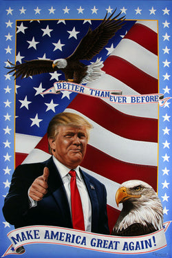 "Donald Trump ""Make America Great Again"" 2016 Presidential Campaign Poster - Image Source"