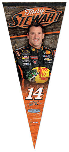 "Tony Stewart ""BIG-TIME"" Extra-Large NASCAR Premium Felt Collector's Pennant - Wincraft 2014"