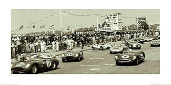 "Auto Racing Classic ""Tourist Trophy (TT) Goodwood, 1959"" Poster - The Art Group Ltd."