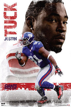"Justin Tuck ""Superstar"" New York Giants Poster - Costacos Sports"