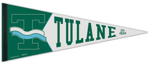 Tulane Green Wave NCAA College Vault 1960s-Style Premium Felt Collector's Pennant - Wincraft Inc.