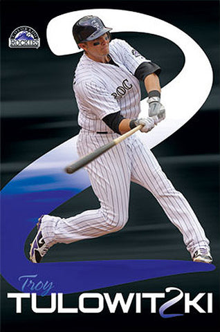 "Troy Tulowitzki ""2-Lo"" Colorado Rockies Poster - Costacos 2011"