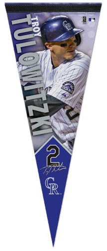 Troy Tulowitzki Signature Series Colorado Rockies Premium Felt Pennant - Wincraft Inc.