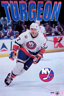 "Pierre Turgeon ""Prime"" New York Islanders Poster - Starline 1993"