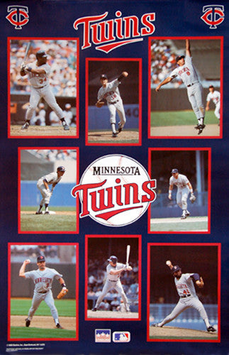 "Minnesota Twins ""Superstars 1989"" MLB Baseball Poster - Starline Inc."