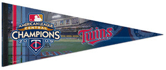 Minnesota Twins 2009 A.L. Central Champs Premium Felt Collector's Pennant - Wincraft