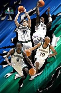 "Minnesota Timberwolves ""WolfGang"" Official NBA Poster - Costacos 2004"