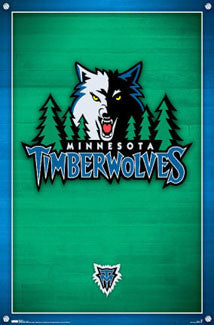 Minnesota Timberwolves NBA Basketball Official Team Logo Poster (2008) - Costacos Sports
