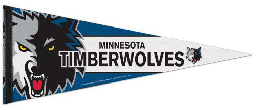 Minnesota Timberwolves Official Team Logo Premium NBA Felt Pennant - Wincraft Inc.