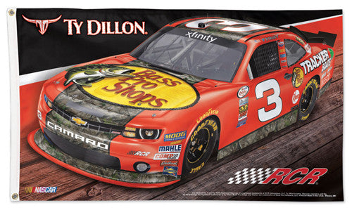 Ty Dillon NASCAR Bass Pro Shops #3 Official HUGE 3'x5' Deluxe-Edition FLAG - Wincraft