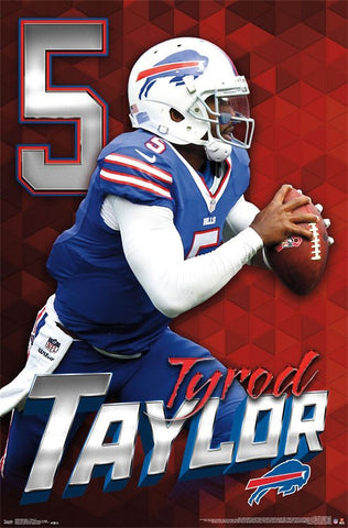 "Tyrod Taylor ""On the Move"" Buffalo Bills QB NFL Action NFL Poster - Trends 2017"