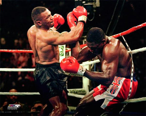 "Mike Tyson ""Uppercut TKO"" (vs. Frank Bruno 1996) Premium Boxing Poster Print - Photofile"