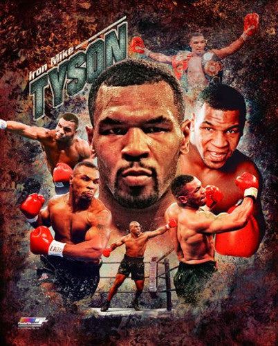 "Mike Tyson ""Superstar"" Premium Boxing Poster Print - Photofile 16x20"