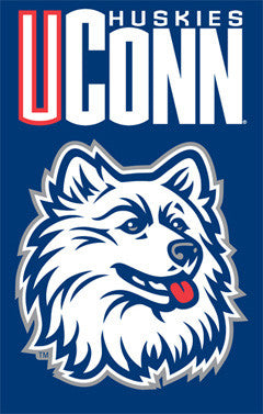UConn Huskies Official Team Applique Banner - Party Animal