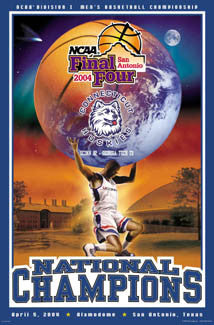 UConn Huskies Basketball 2004 NCAA National Champions Poster - Action Images Inc.