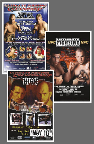 "UFC #36, #37, #37.5 Official Event Poster Reproductions Set (13""x19"") - Pyramid America"