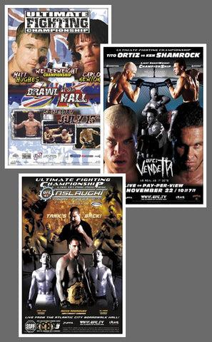 "UFC #38, #40, #41 Official Event Poster Reproductions Set (13""x19"") - Pyramid America"