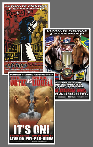 "UFC 45, 46, 47 Official Event Poster Reproductions Set (13""x19"") - Pyramid America"