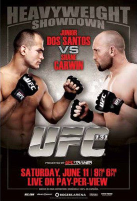 UFC 131 Official Fight Bill Poster (Vancouver 6/11/2011)