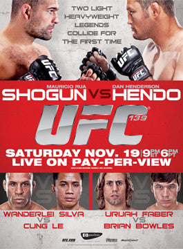 UFC 139 Official Fight Bill Poster (San Jose, CA 11/19/2011)