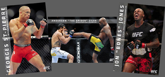 COMBO: UFC Action Series 3-Poster Combo (GSP, Spider, Jones) - Pyramid America