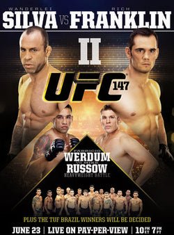 UFC 147 (Silva vs. Franklin II) Official Fight Bill Poster (Brazil 6/23/2012)