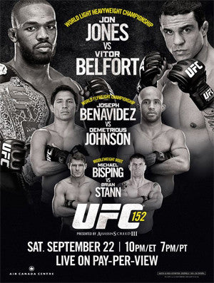 UFC 152 (Jones vs. Belfort) Official Event Poster (Toronto, ON 9/22/2012)