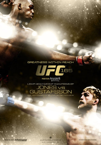 UFC 165 Official Event Poster (Jon Jones vs. Gustafsson) - Toronto 9/21/2013