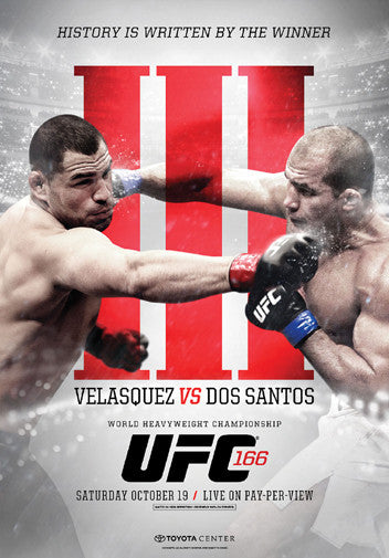 UFC 166 Official Event Poster (Velasquez vs. Dos Santos III) - Houston 10/19/2013