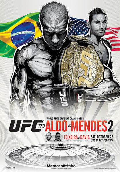 UFC 179 Official Full-Sized Event Poster (Aldo vs. Mendes 2) - Rio Brazil 10/25/2014