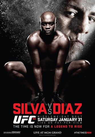 UFC 183 Official Event Poster (Anderson Silva vs. Nick Diaz) - Las Vegas 1/31/2015