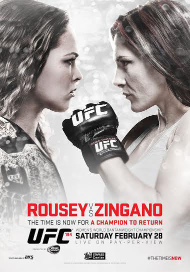 UFC 184 Official Event Poster (Ronda Rousey vs Cat Zingano) - Los Angeles 2/28/2015