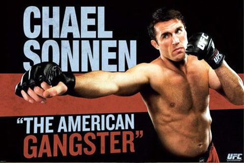 "UFC Chael Sonnen ""The American Gangster"" Poster - Pyramid America 2013"