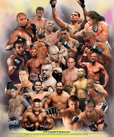 UFC Legends and Superstars (23 MMA Fighters) Poster Print - Wishum Gregory