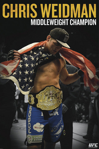 "UFC Chris Weidman ""American Hero"" Middleweight Champion Poster - Pyramid 2013"