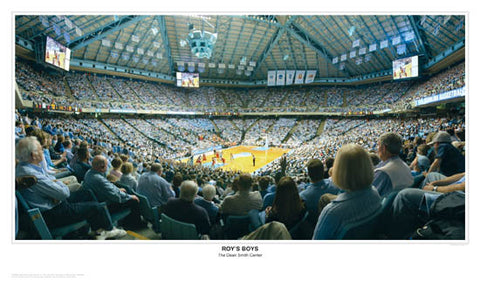 "North Carolina Basketball ""Roy's Boys"" Dean Smith Center Panorama - Sport Photos Inc."