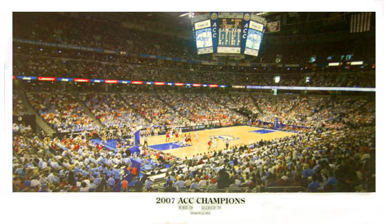 North Carolina Tar Heels Basketball 2007 ACC Championship Game Poster Print- Sofa Galleria