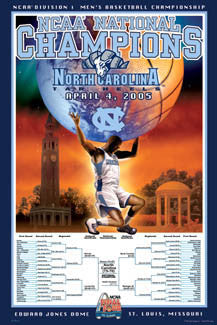 North Carolina Tar Heels Men's Basketball 2005 National Champions - Action Images